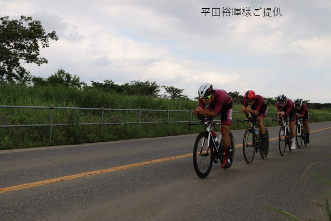 山田、個人タイムトライアルで2位に!